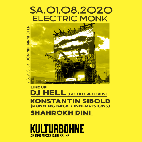 Electric Monk with: DJ Hell, Konstantin Sibold, Shahrokh Dini